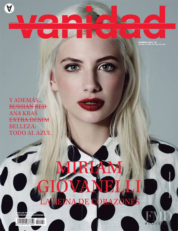 Miriam Giovanelli featured on the vanidad cover from February 2014