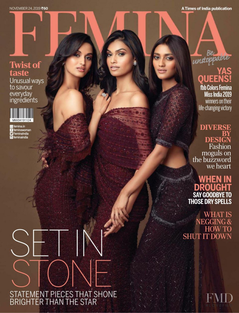 Shivani Jadhav, Suman Rao, Shreya Shanker featured on the Femina India cover from November 2019