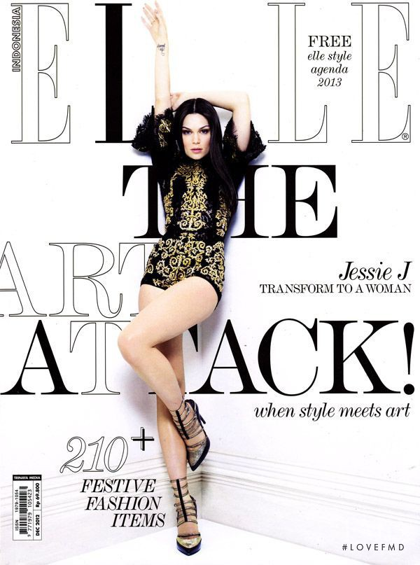 Jessie J. featured on the Elle Indonesia cover from December 2012