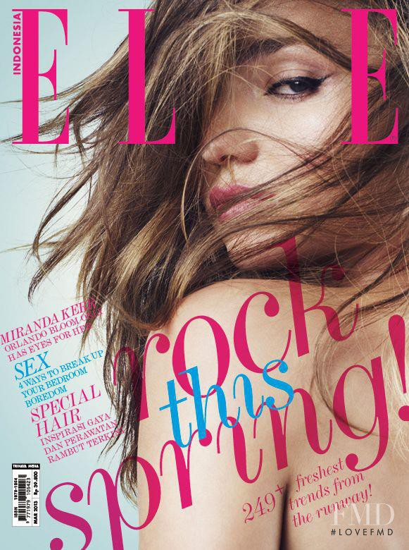 Miranda Kerr featured on the Elle Indonesia cover from March 2013