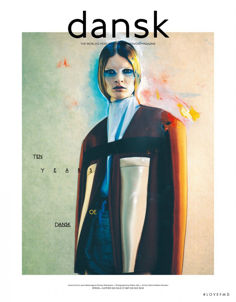 Juliane Grüner featured on the DANSK Magazine cover from March 2012