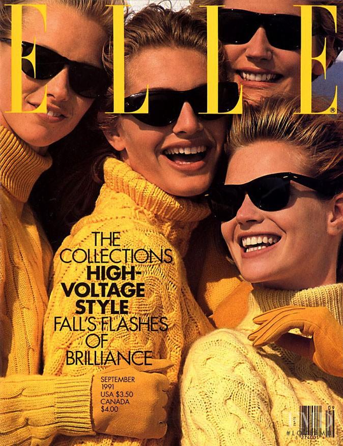 Kim Melander, Debbie Smallback featured on the Elle USA cover from September 1991