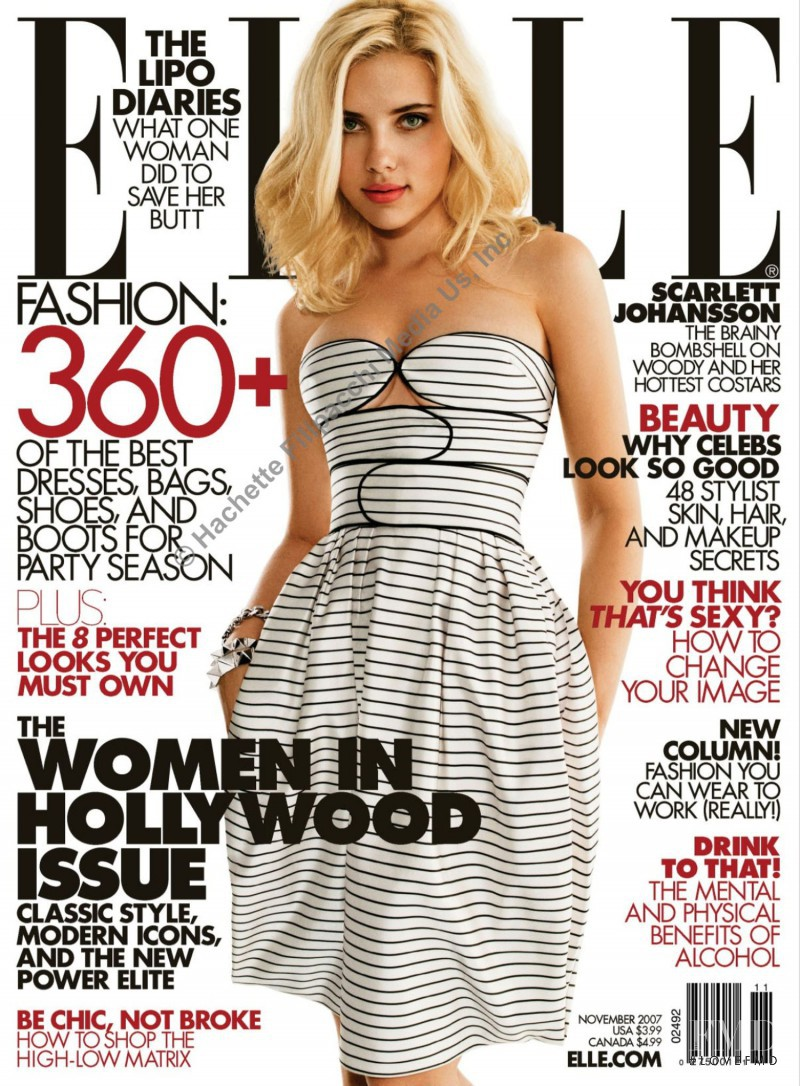 Scarlett Johansson featured on the Elle USA cover from November 2007