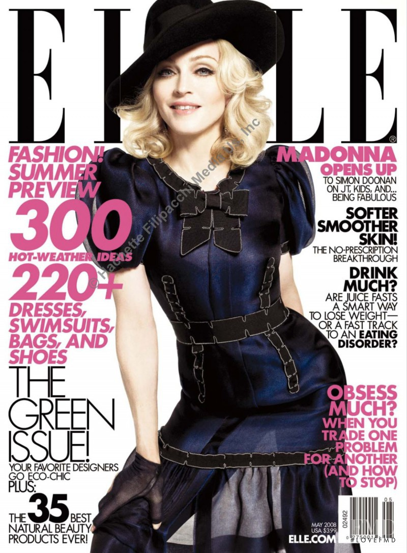 Madonna featured on the Elle USA cover from May 2008