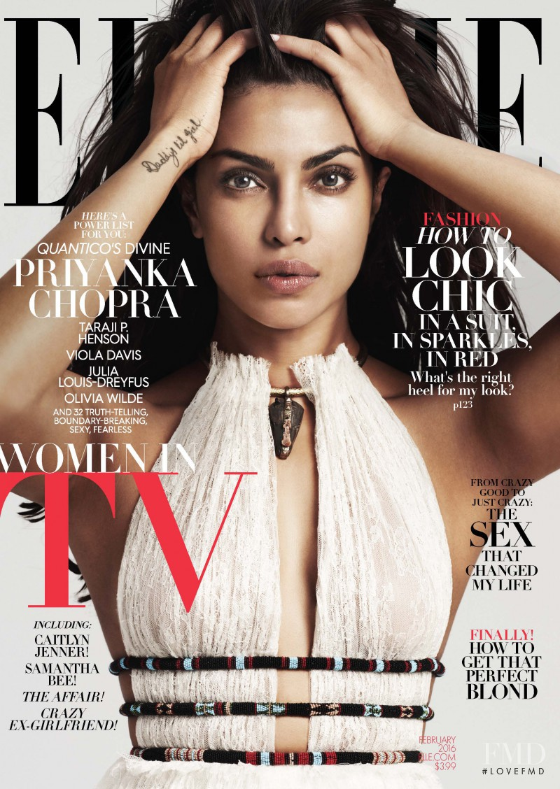 Priyanka Chopra featured on the Elle USA cover from February 2016