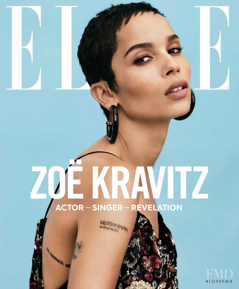 Zoe Kravitz featured on the Elle USA cover from January 2018