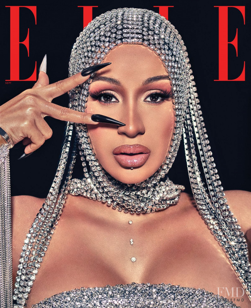 Cardi B featured on the Elle USA cover from September 2020