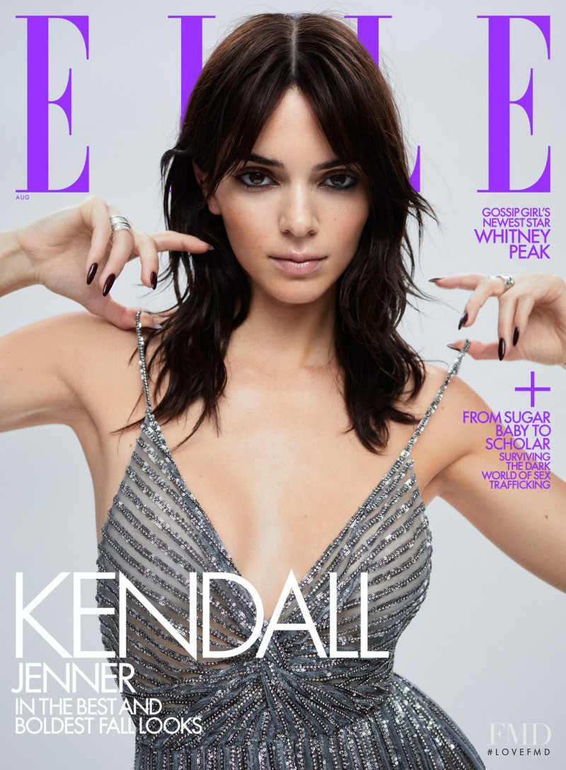 Kendall Jenner featured on the Elle USA cover from August 2021