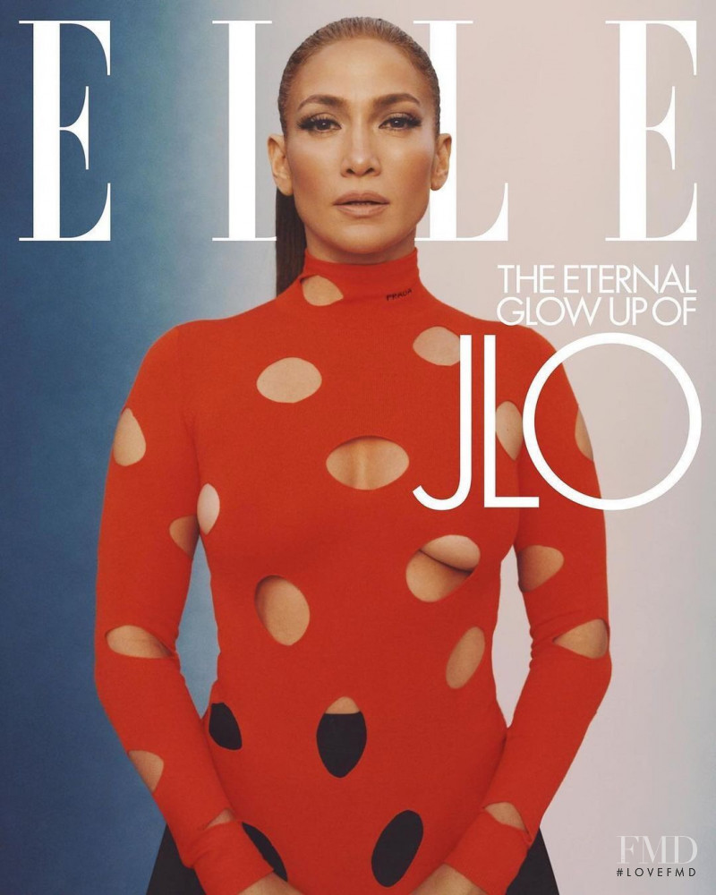 Jennifer Lopez featured on the Elle USA cover from February 2021