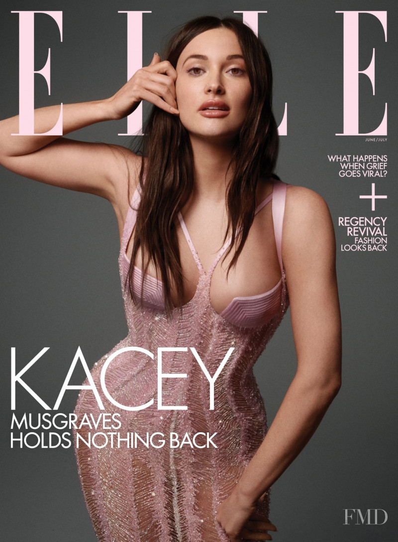 Kacey Musgraves featured on the Elle USA cover from June 2021