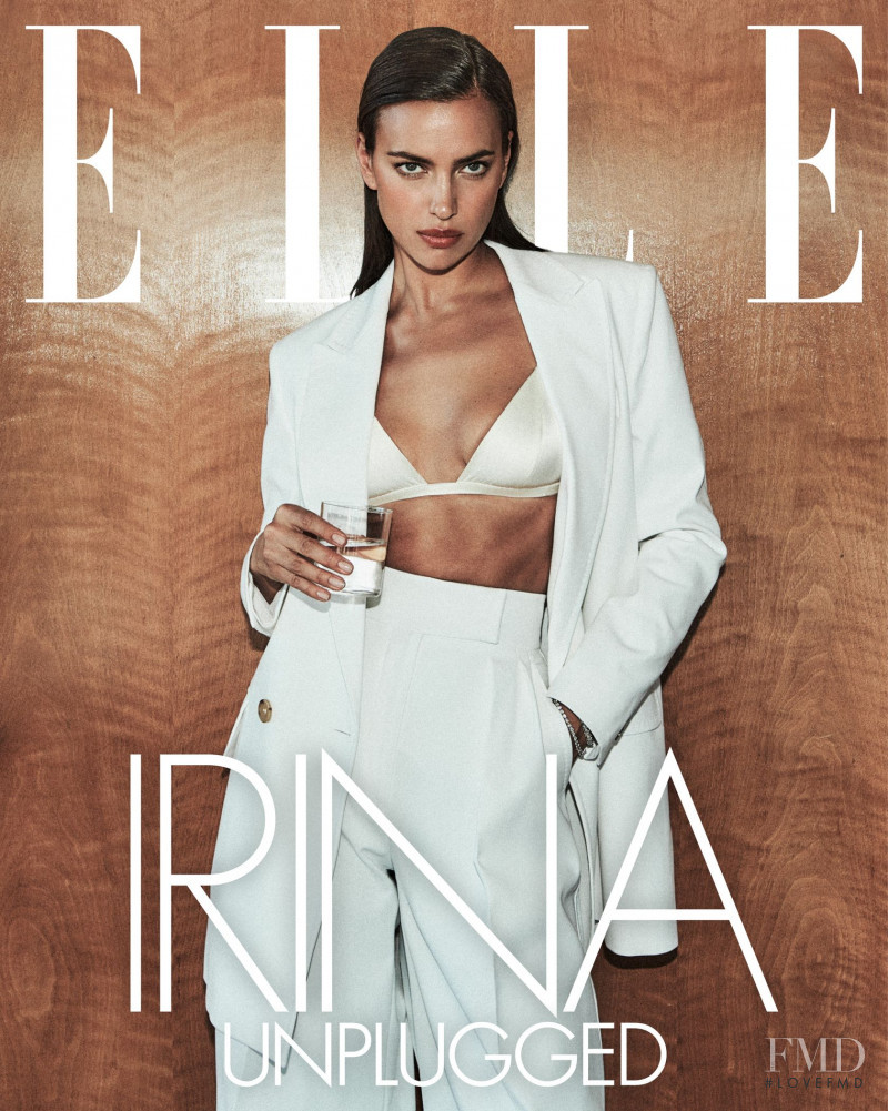 Irina Shayk featured on the Elle USA cover from March 2021