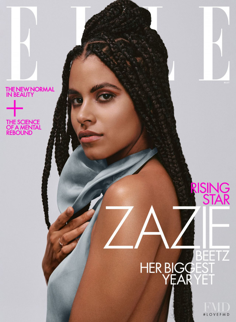Zazie Beetz featured on the Elle USA cover from May 2021