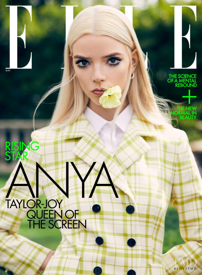 Anya Taylor-Joy featured on the Elle USA cover from May 2021