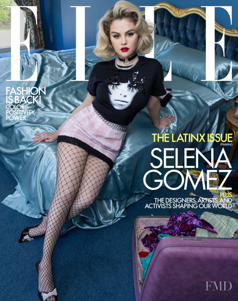 Selena Gomez featured on the Elle USA cover from September 2021