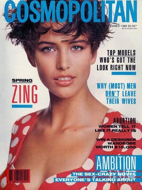 Toneya Bird featured on the Cosmopolitan Australia cover from September 1989