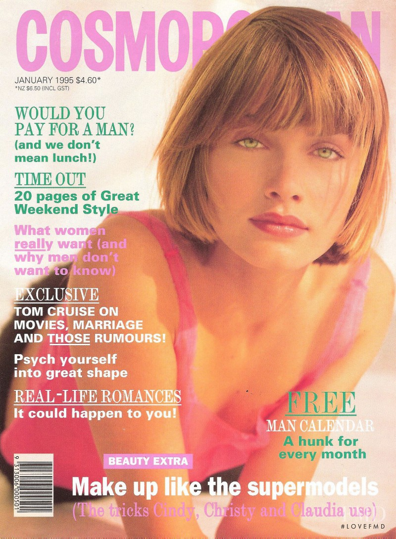 Amber Valletta featured on the Cosmopolitan Australia cover from January 1995