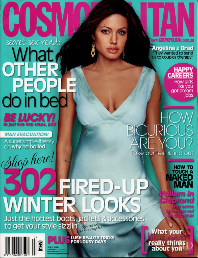Angelina Jolie featured on the Cosmopolitan Australia cover from July 2005