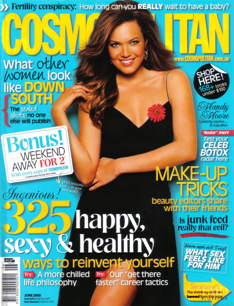 Mandy Moore featured on the Cosmopolitan Australia cover from June 2006
