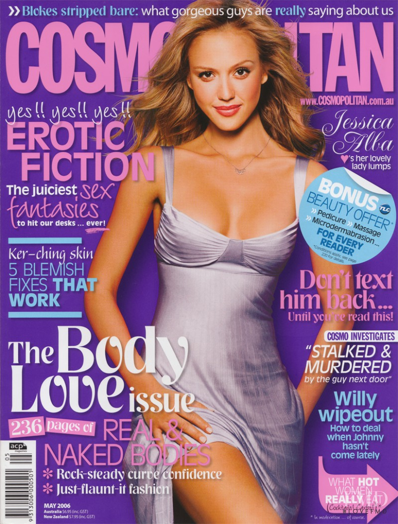 Jessica Alba featured on the Cosmopolitan Australia cover from May 2006