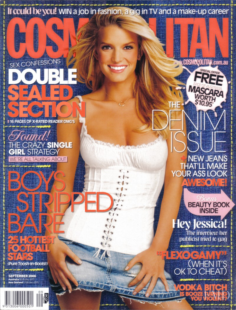 Jessica Simpson featured on the Cosmopolitan Australia cover from September 2006