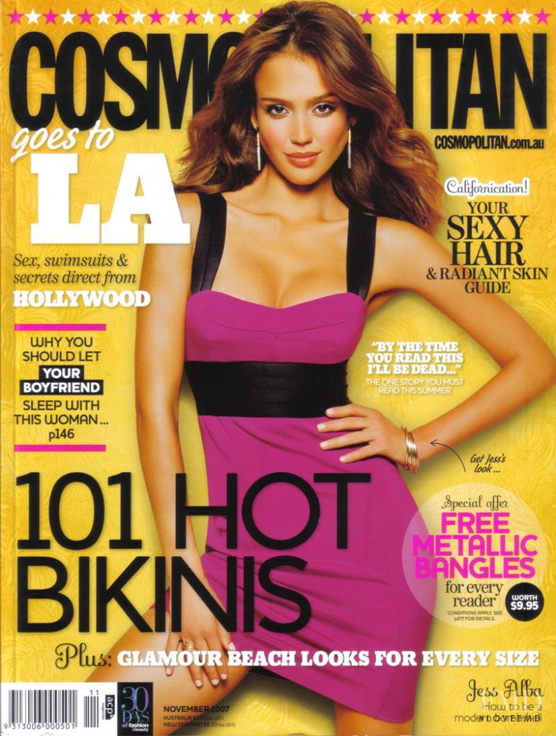 Jessica Alba featured on the Cosmopolitan Australia cover from November 2007