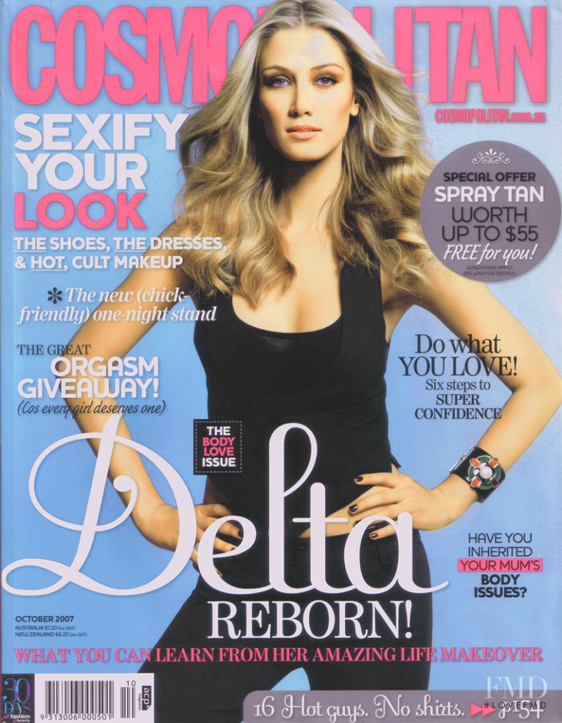 featured on the Cosmopolitan Australia cover from October 2007