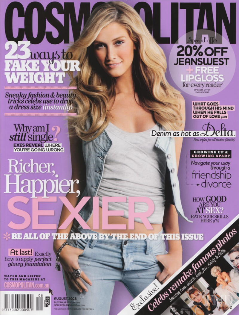 featured on the Cosmopolitan Australia cover from August 2008