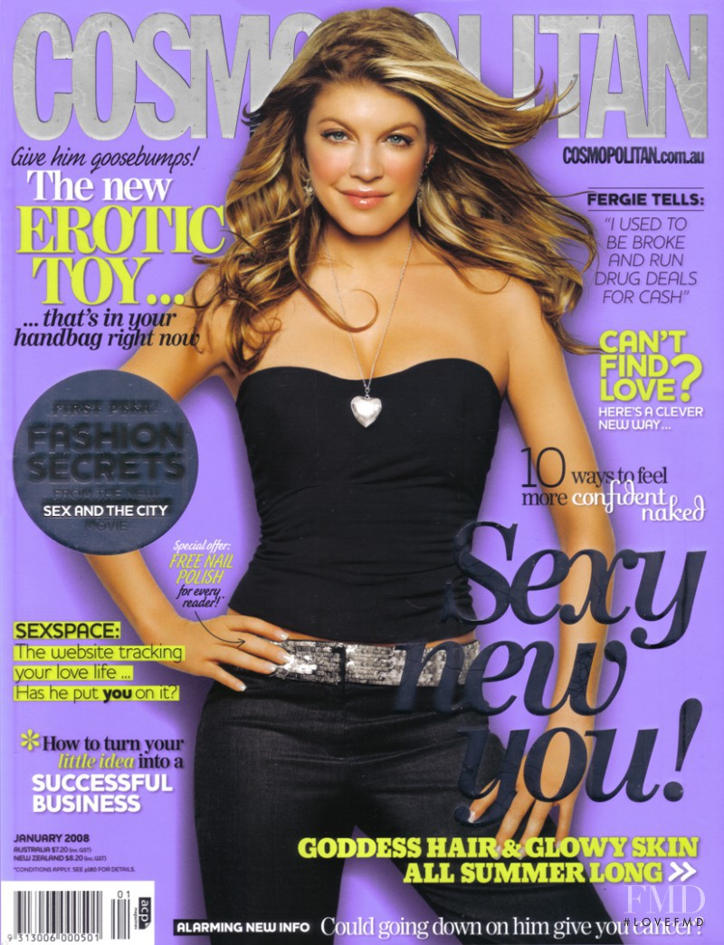 Fergie featured on the Cosmopolitan Australia cover from January 2008
