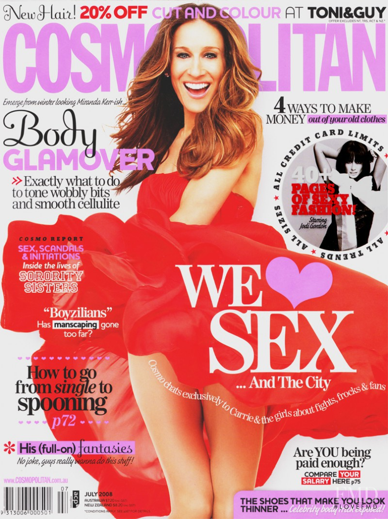 Sarah Jessica Parker featured on the Cosmopolitan Australia cover from July 2008