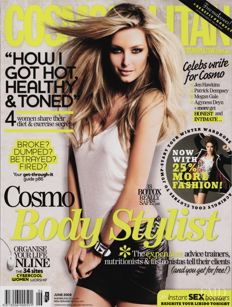 featured on the Cosmopolitan Australia cover from June 2008