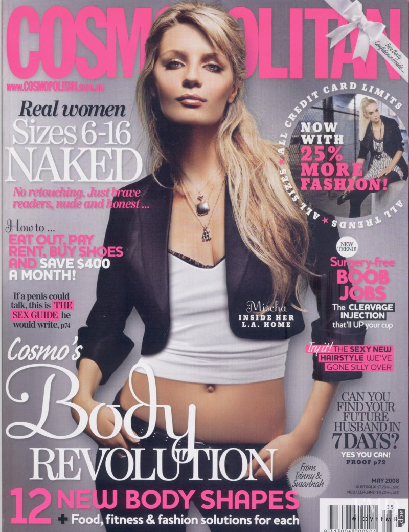 featured on the Cosmopolitan Australia cover from May 2008