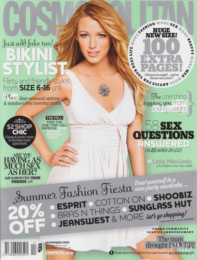 featured on the Cosmopolitan Australia cover from November 2008