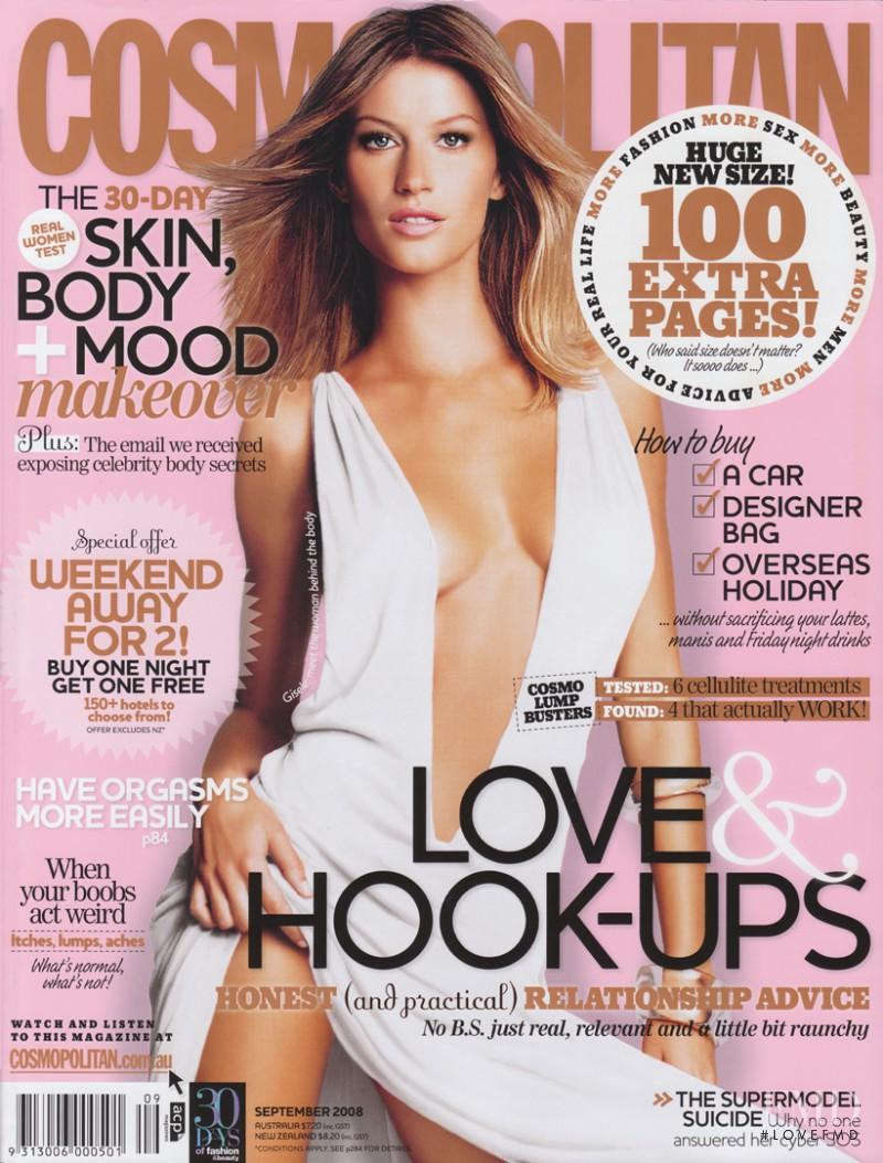 Gisele Bundchen featured on the Cosmopolitan Australia cover from September 2008