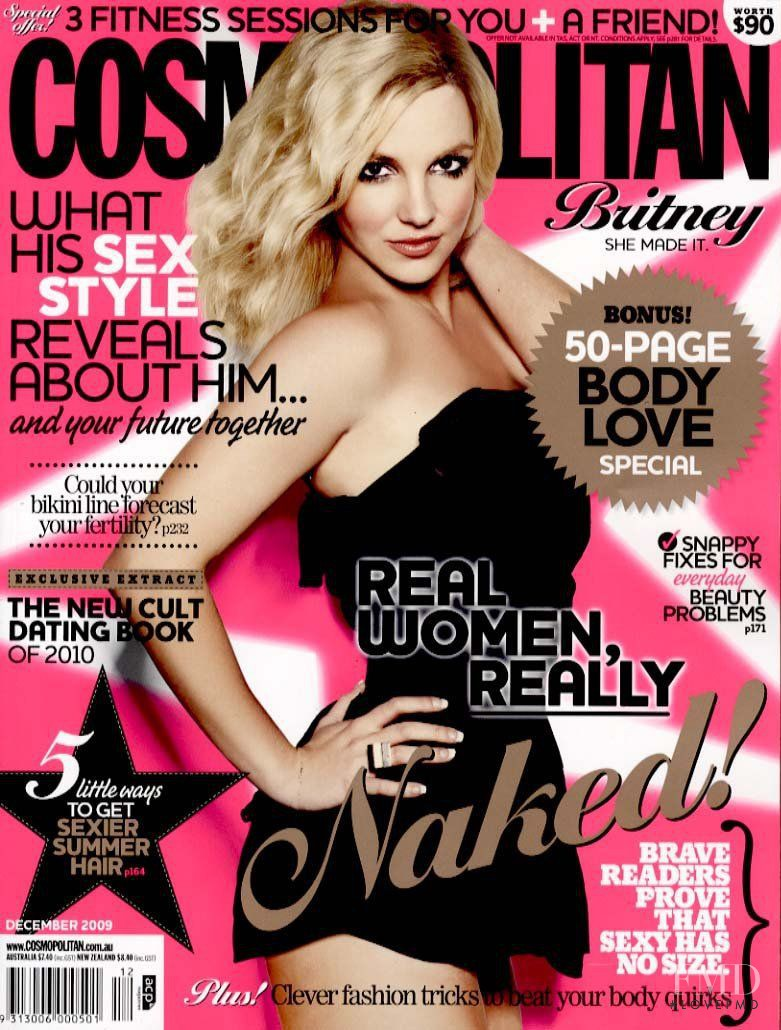 Britney Spears featured on the Cosmopolitan Australia cover from December 2009