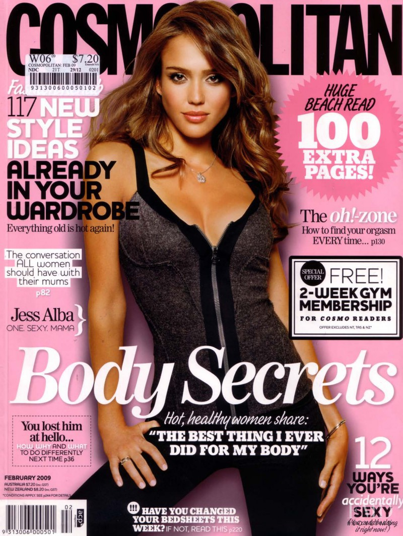 Jessica Alba featured on the Cosmopolitan Australia cover from February 2009