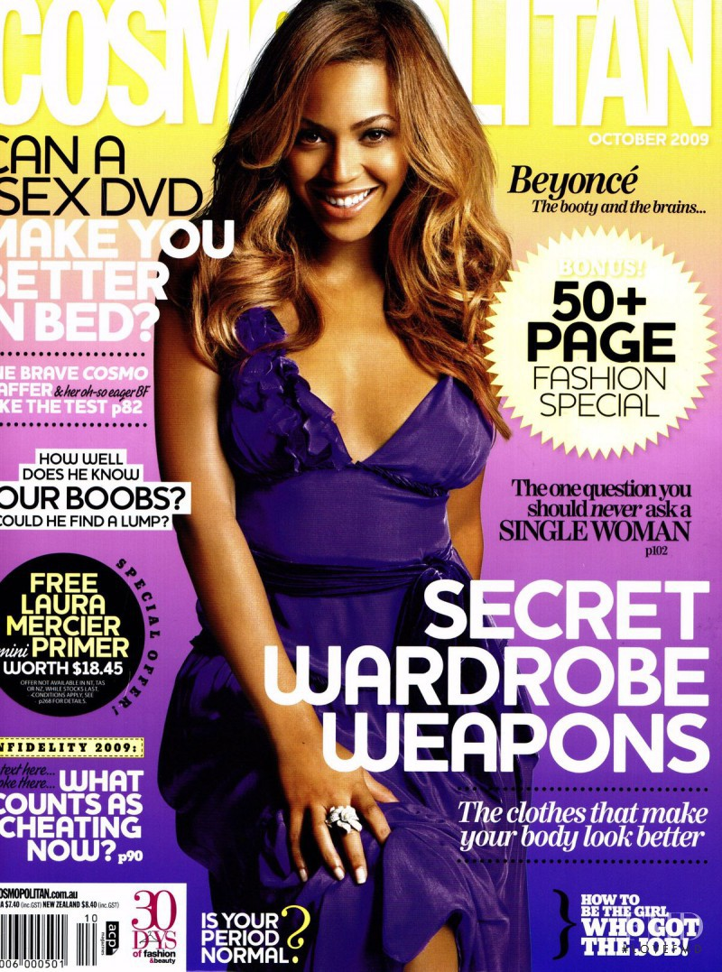 Beyoncé featured on the Cosmopolitan Australia cover from October 2009