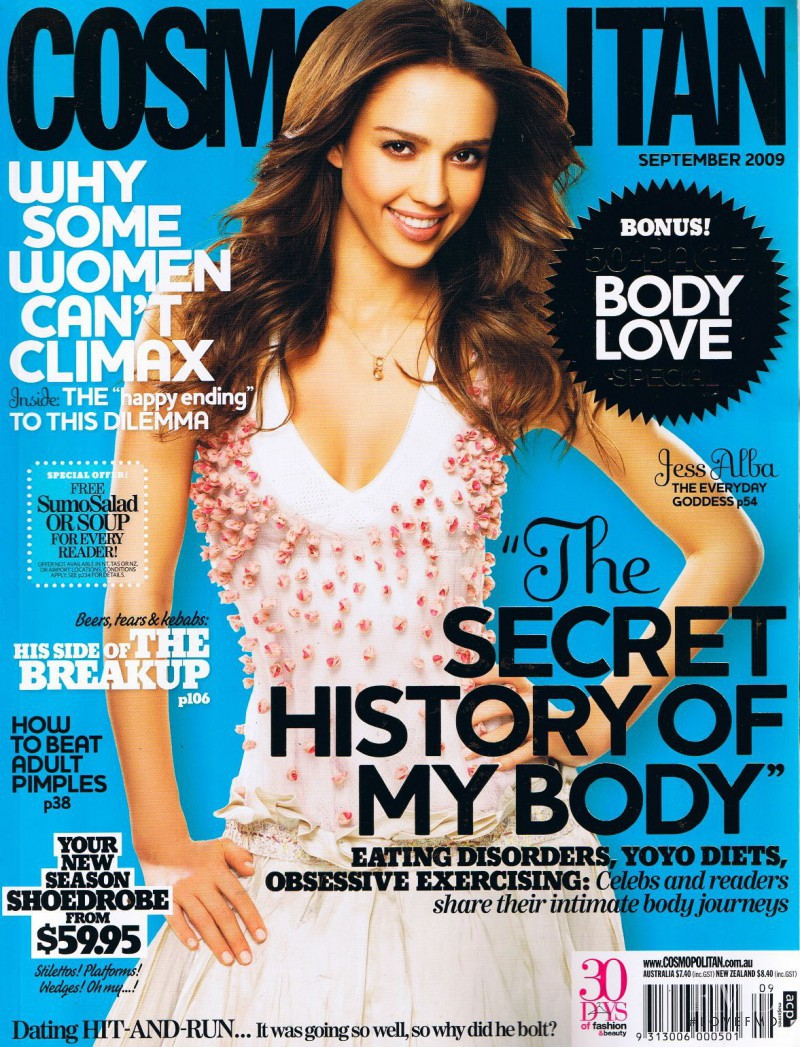 Jessica Alba featured on the Cosmopolitan Australia cover from September 2009