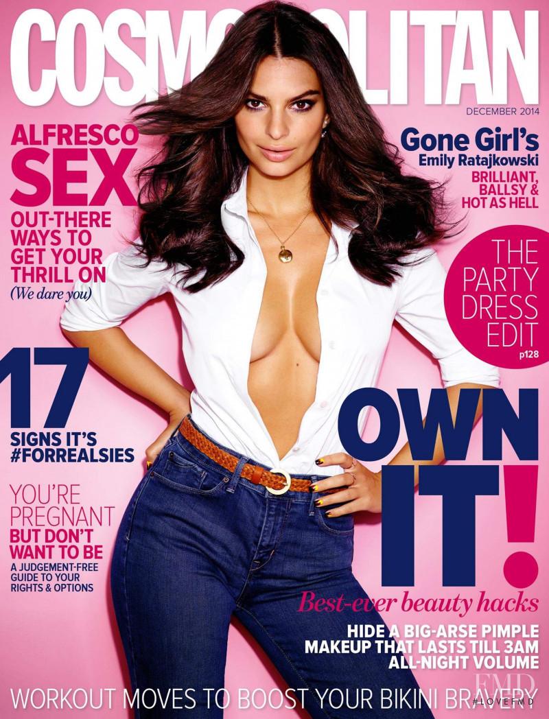 Emily Ratajkowski featured on the Cosmopolitan Australia cover from December 2014