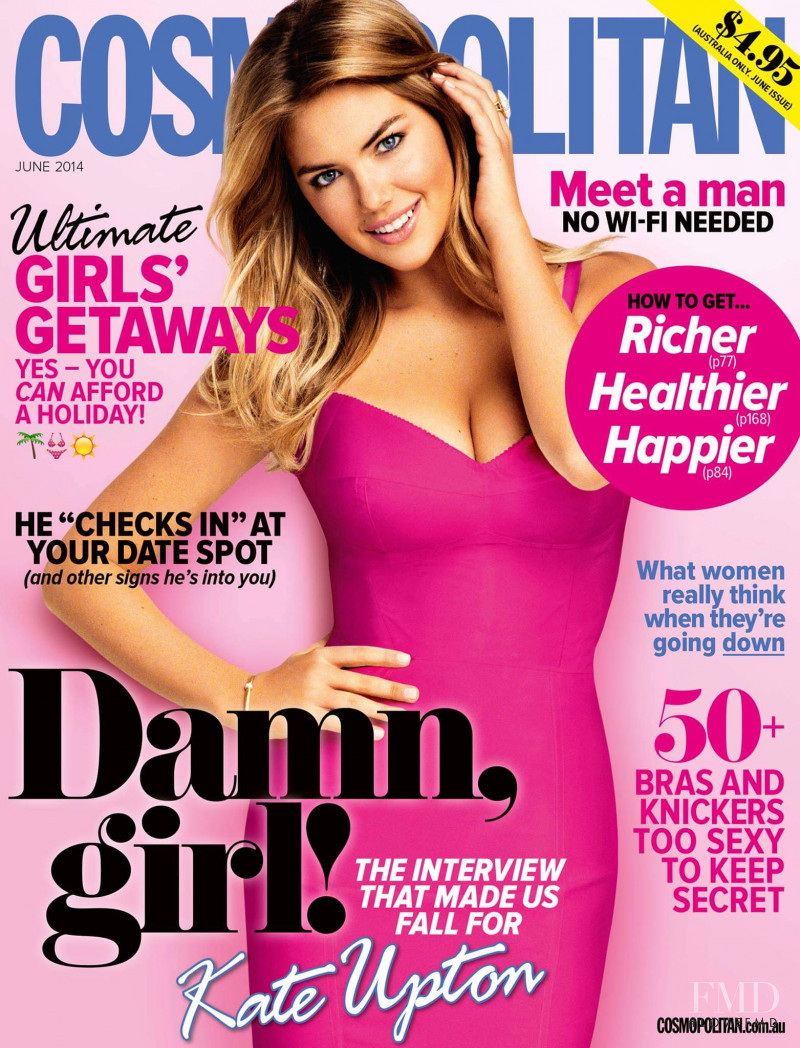 Kate Upton featured on the Cosmopolitan Australia cover from June 2014