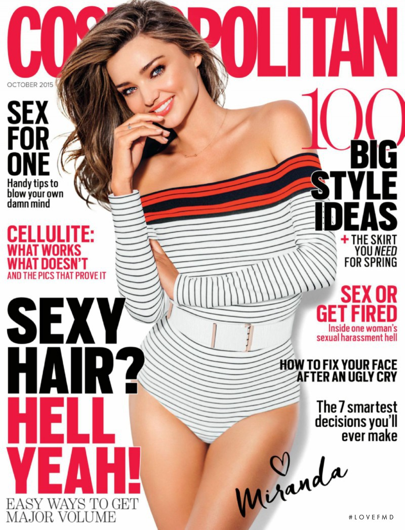 Miranda Kerr featured on the Cosmopolitan Australia cover from October 2015