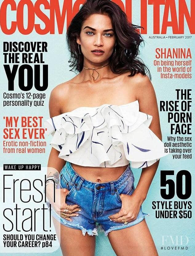 Shanina Shaik featured on the Cosmopolitan Australia cover from February 2017
