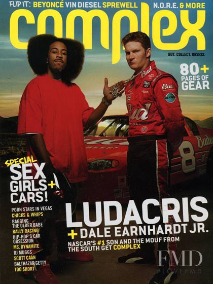 Ludacris & Dale Earnhardt Jr. featured on the Complex cover from April 2003