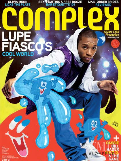 Lupe Fiasco featured on the Complex cover from August 2008