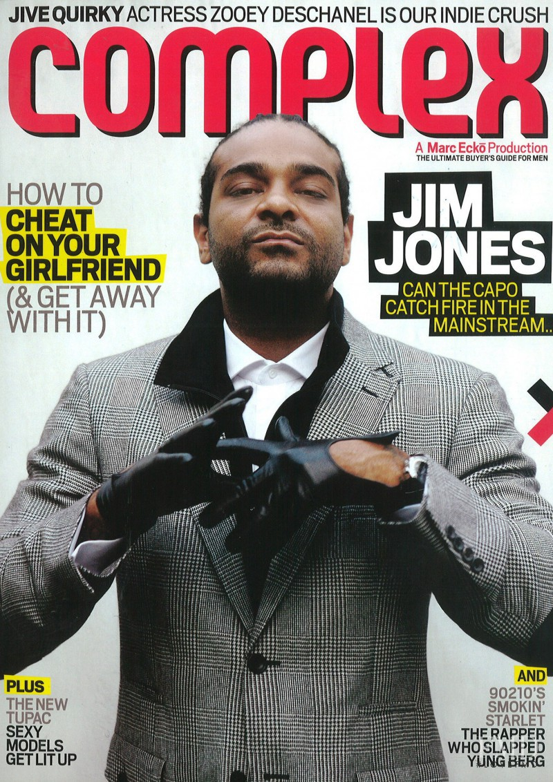 Jim Jones featured on the Complex cover from December 2008