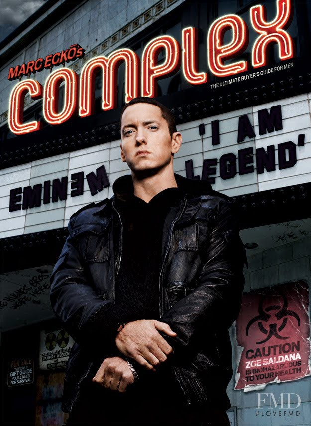 Eminem featured on the Complex cover from December 2009