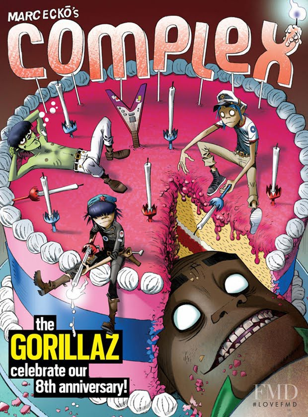 Gorillaz featured on the Complex cover from April 2010