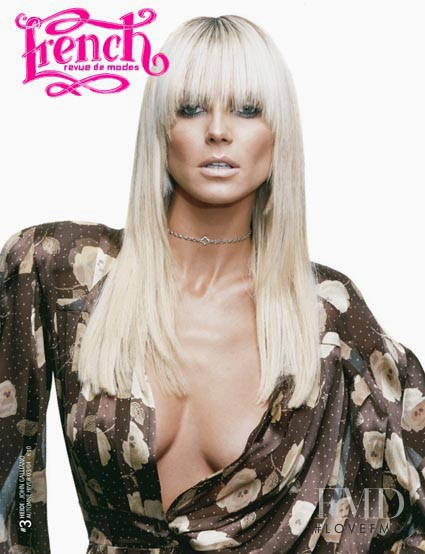 Heidi Klum featured on the French Revue De Modes cover from September 2003