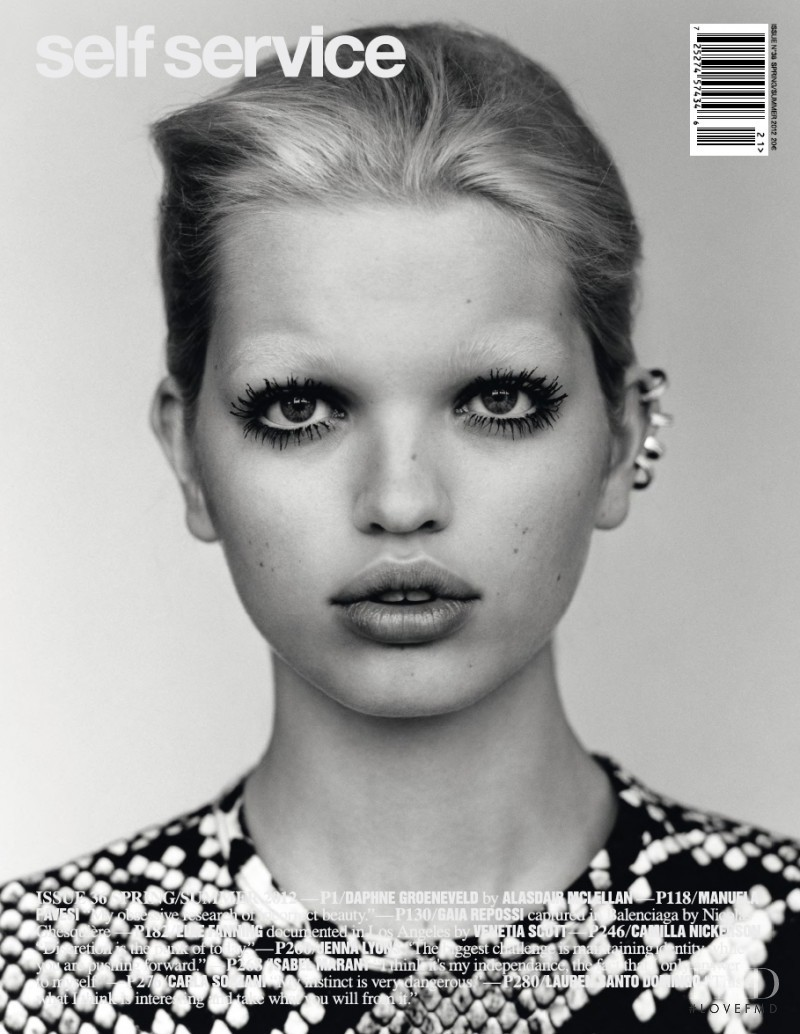 Daphne Groeneveld featured on the Self Service cover from March 2012