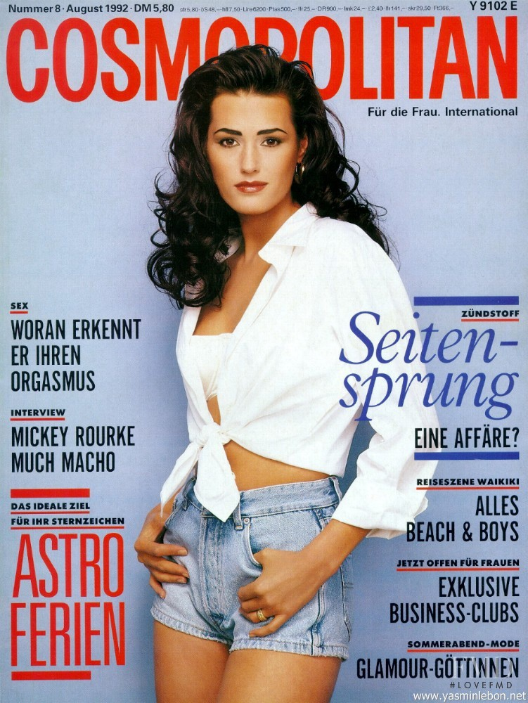 Yasmin Le Bon featured on the Cosmopolitan Germany cover from August 1992