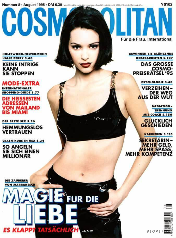 Patricia Hartmann featured on the Cosmopolitan Germany cover from August 1995